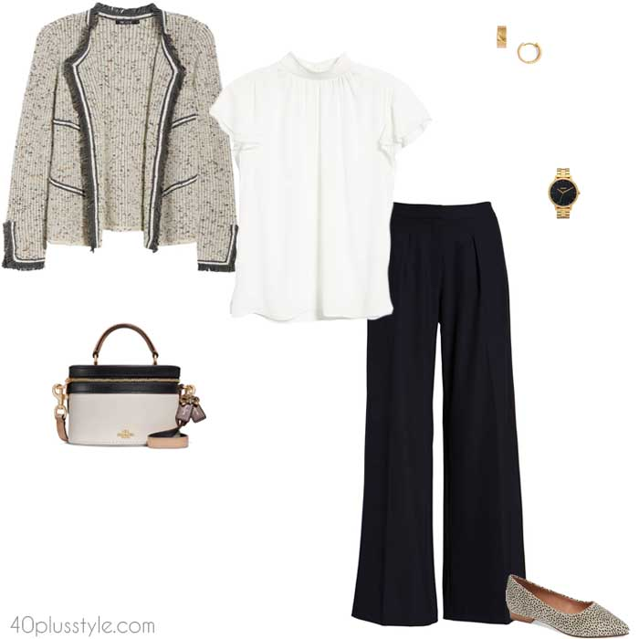 Business casual - stylish cardigan outfits for women | 40plusstyle.com