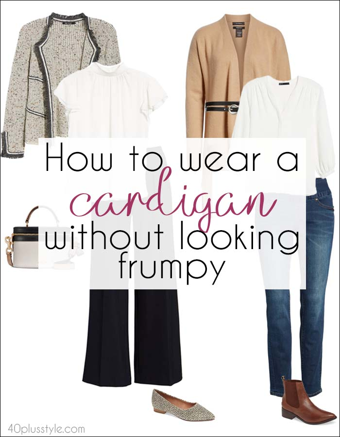 How to wear a cardigan without looking frumpy: 8 cardigan outfits to try | 40plusstyle.com