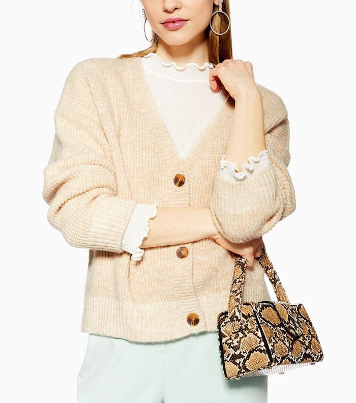 knit crop cardigan | 40plusstyle.com