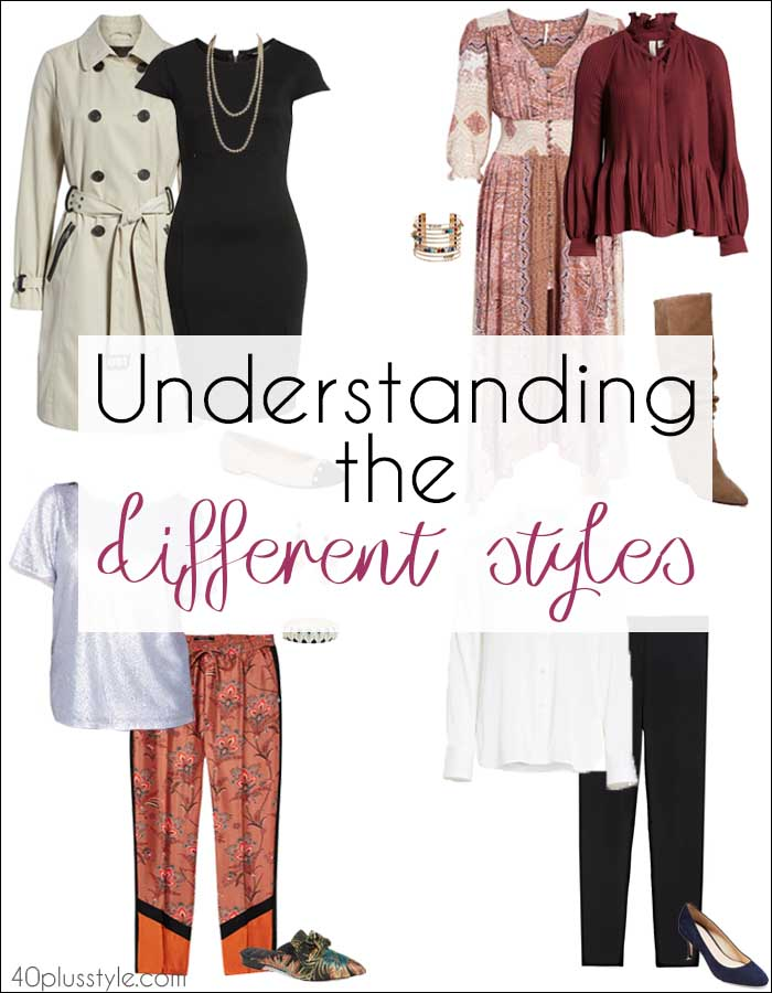 Understanding the different styles   40plusstyle.com
