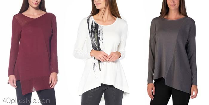 chic tops to look slimmer | 40plusstyle.com