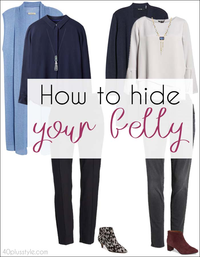 How To Hide your belly with the right clothes | 40plusstyle.com