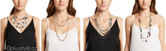 Elegant layered necklaces | 40plusstyle.com