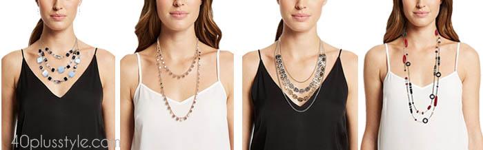 Elegant layered necklaces   40plusstyle.com