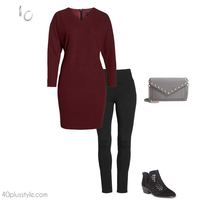 Winter outfits with leggings | 40plusstyle.com