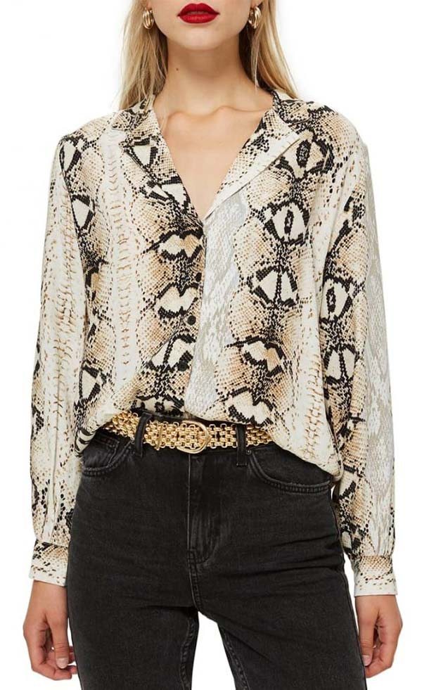 Chic tops for women over 40 - 10 of the best snake print pieces | 40plusstyle.com