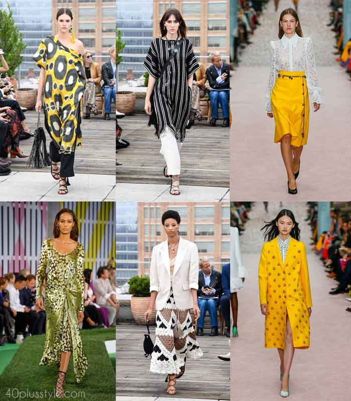 Fashion trends 2019: The best looks from the Spring and summer 2019 fashion shows | 40plusstyle.com