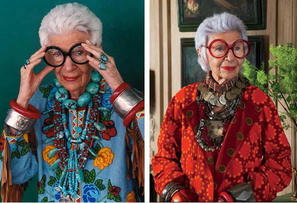 style inspiration with Iris Apfel - Layering necklaces and accessories   40plusstyle.com
