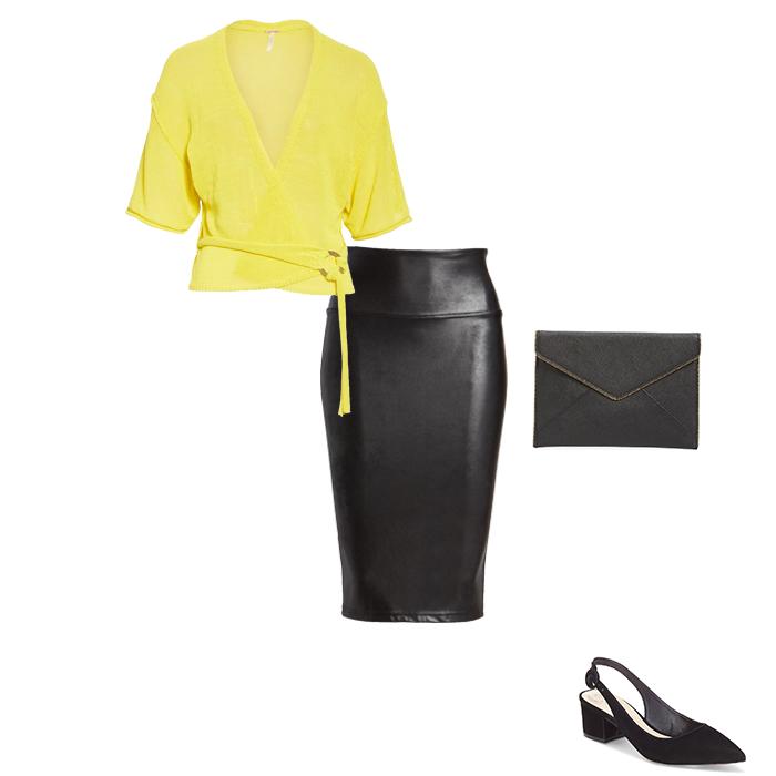 wrap cardigan outfit idea | 40plusstyle.com