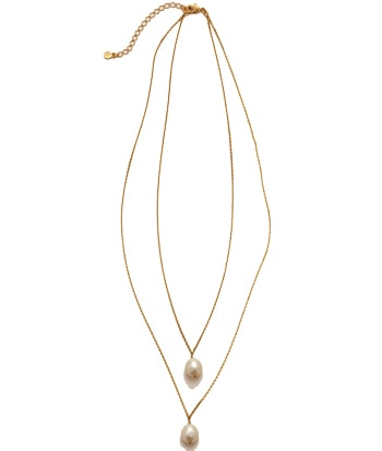 Best gift ideas for women over 40 -Boden pearl layered necklace | 40plusstyle.com