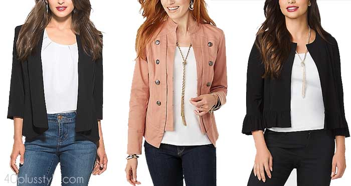 How to layer with flattering pieces for the apple body shape | 40plusstyle.com
