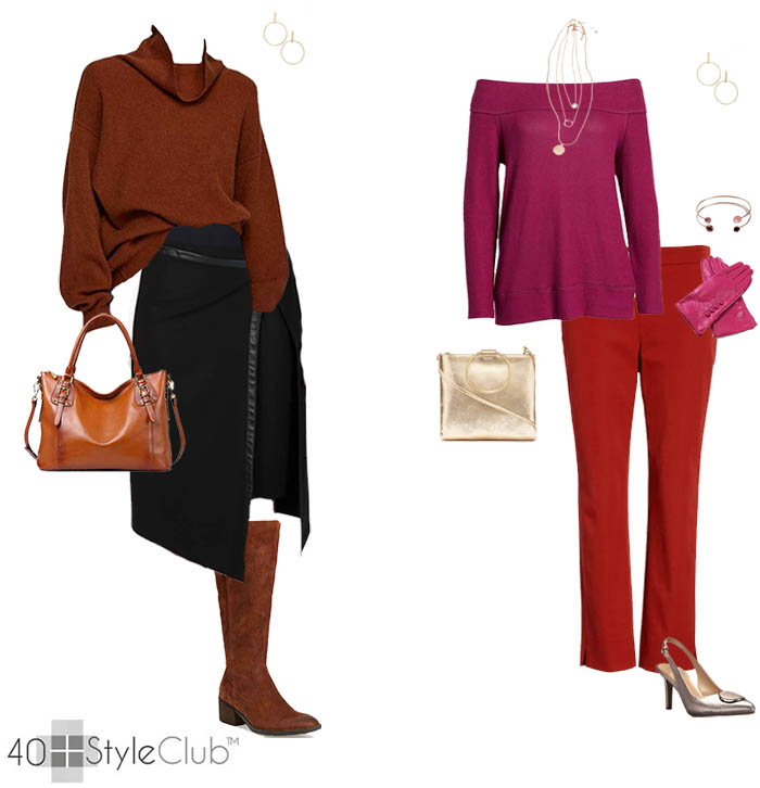 db6cbe4b4ba90 Stylish winter looks for women | 40plusstyle.com