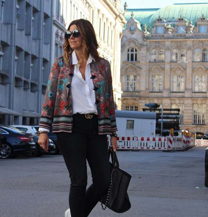 Floral jackets and statement accessories   40plusstyle.com