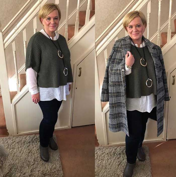 Plaid coats for women over 40 | 40plusstyle.com
