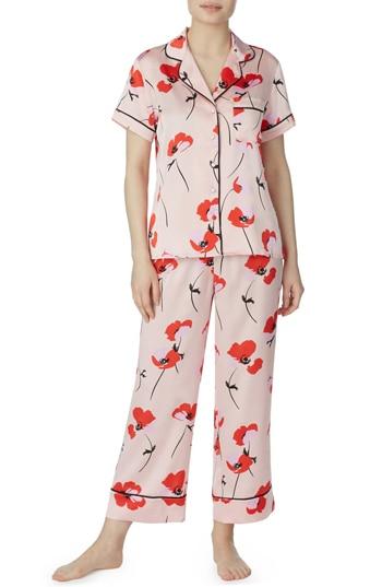 Kate Spade poppy print pajama set   40plusstyle.com