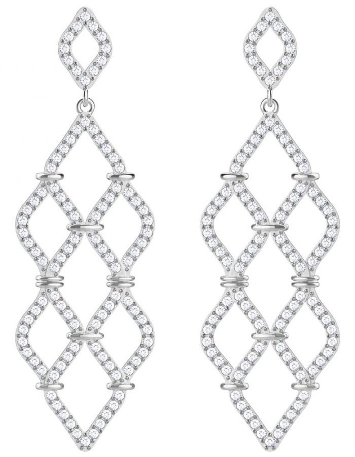 Crystal statement earrings for holiday parties | 40plusstyle.com