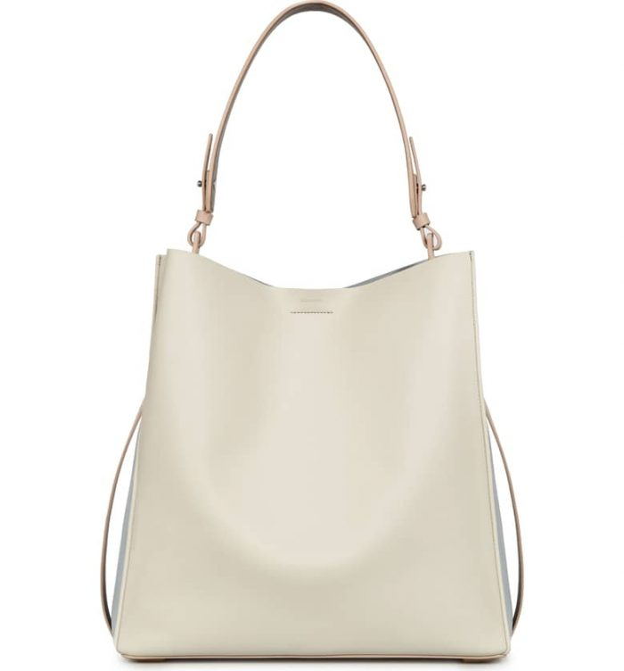 Modern white bag for minimalist women | 40plusstyle.com