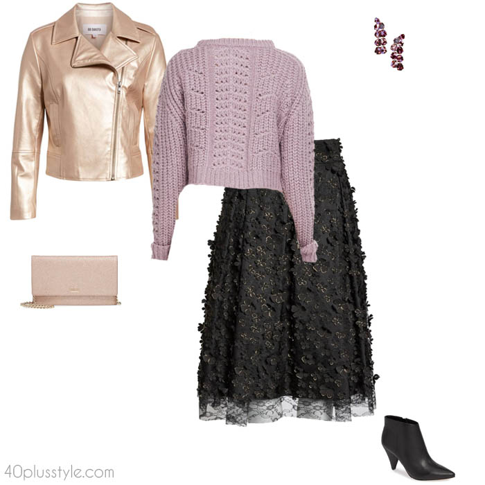 Pastels for a christmas party outfit   40plusstyle.com
