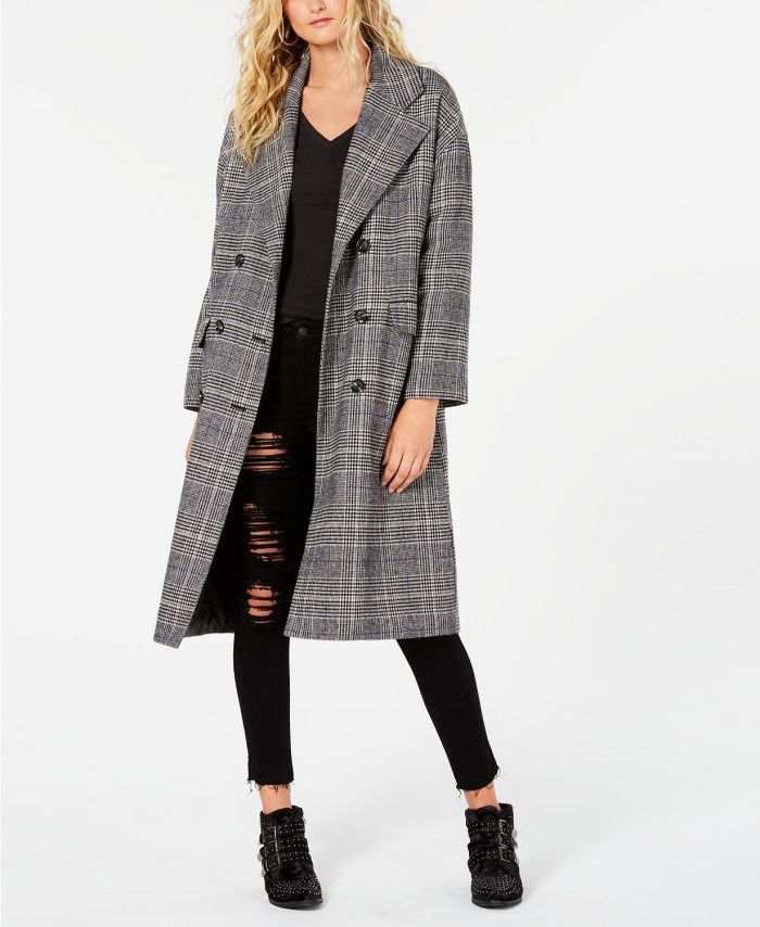 Plaid coat in stores | 40plusstyle.com