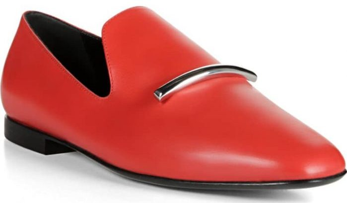 Bold red loafers for a statement shoe | 40plusstyle.com