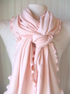 Pink scarf - 5 steps to instantly improve your style | 40plusstyle.com