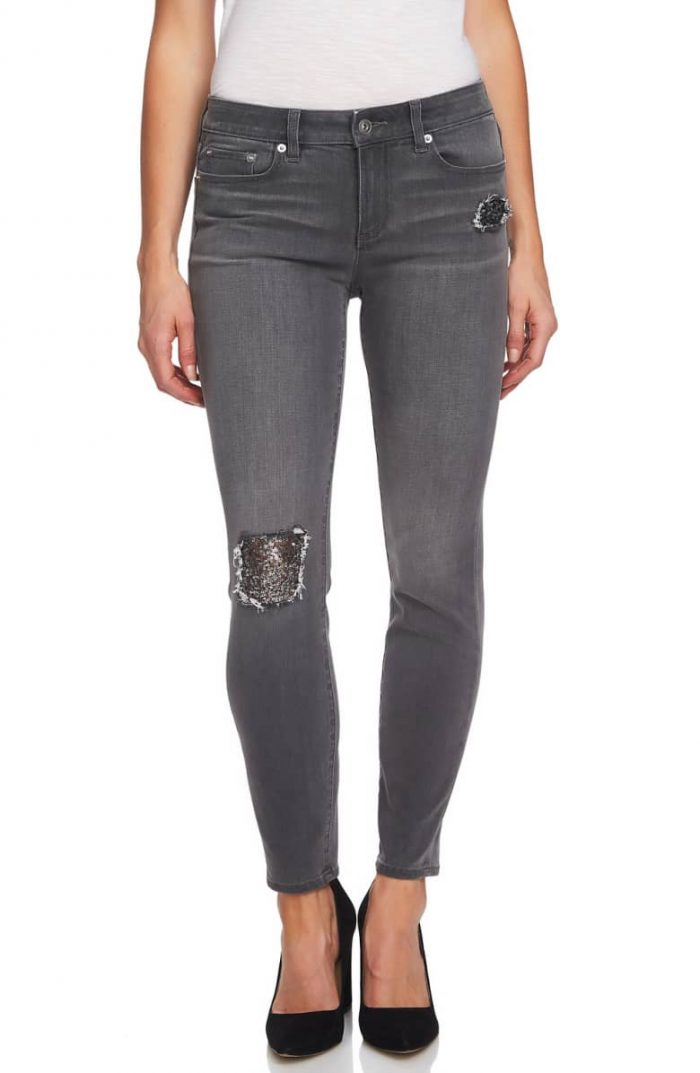 Sequin jeans for women | 40plusstyle.com
