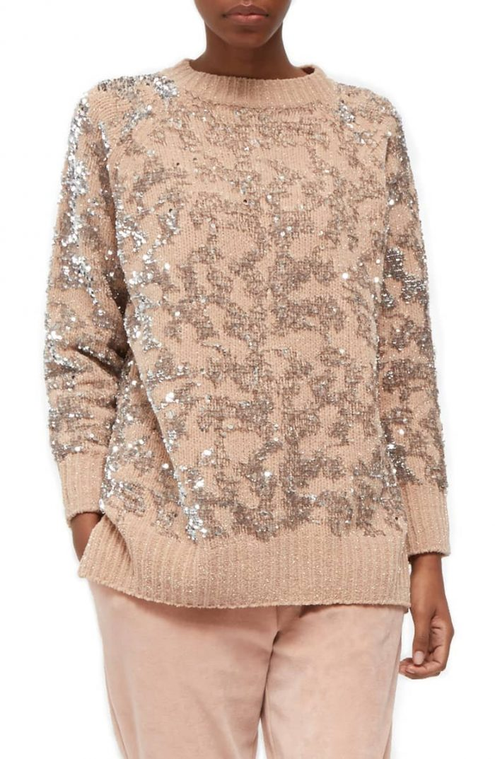 Sequin sweaters for women | 40plusstyle.com