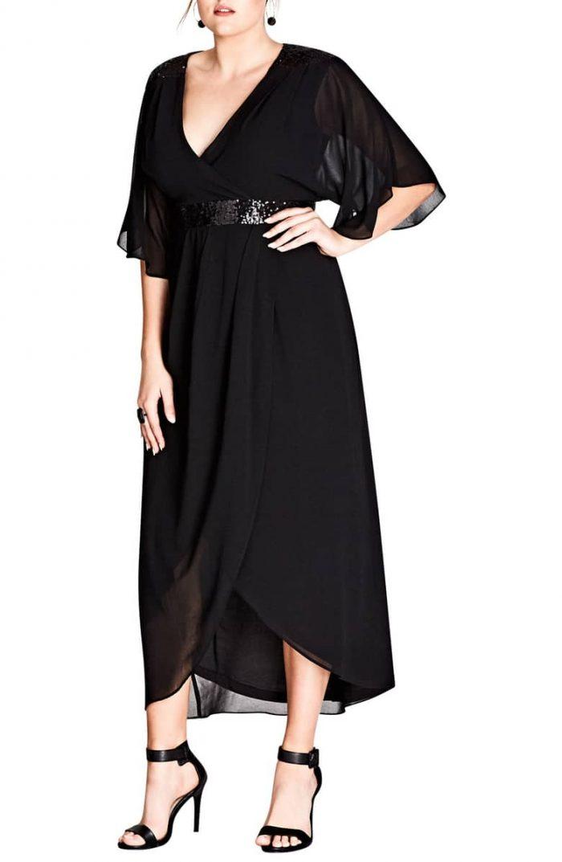 Sequin wrap dress | 40plusstyle.com