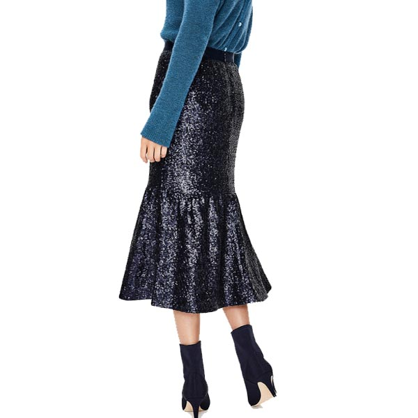 Sequin skirts for the holiday | 40plusstyle.com