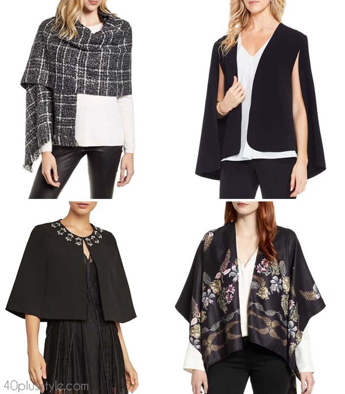 Shrugs and boleros for evening dresses | 40plusstyle.com