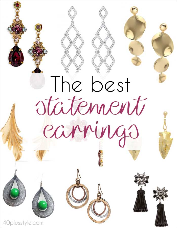 The best statement earrings to add pizzazz to any party outfit | 40plusstyle.com