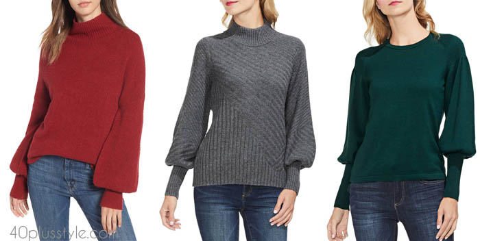 Statement sleeves - ways to style your fall sweater | 40plusstyle.com