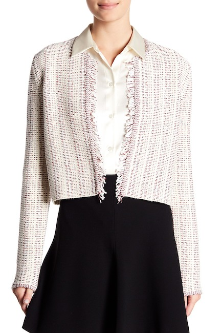 Tweed jacket with lilac shades | 40plusstyle.com