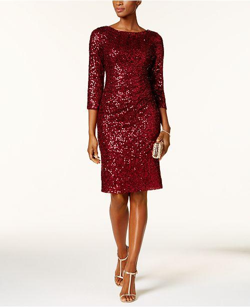 Burgundy dresses for women over 40 | 40plusstyle.com