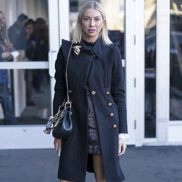 Black Trench Coat with Gold Buttones   40plusstyle.com