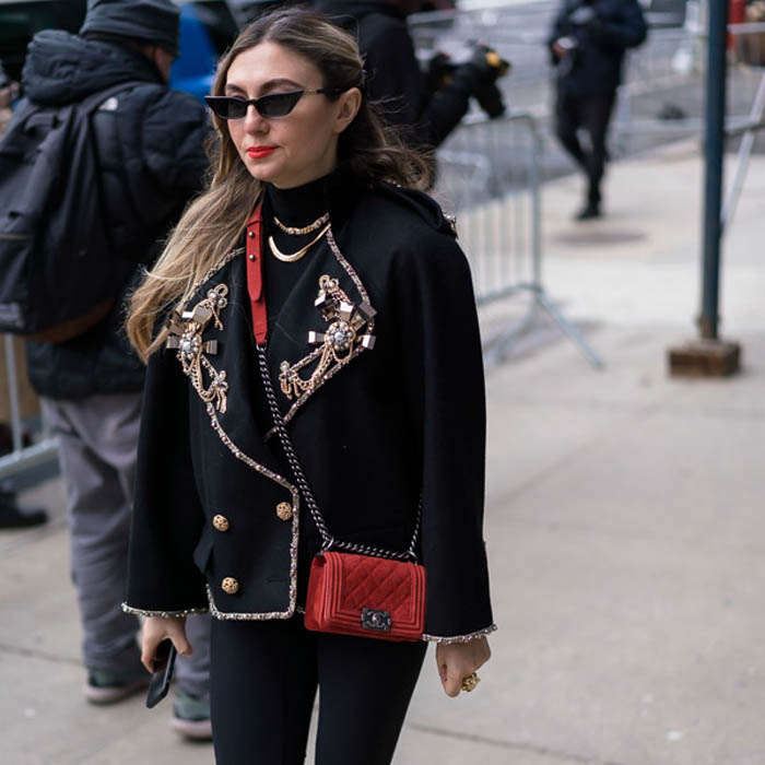 Black Jacket with Gold Details | 40plusstyle.com