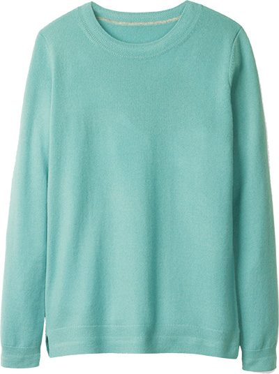 Cashmere Crew Sweater | 40plusstyle.com