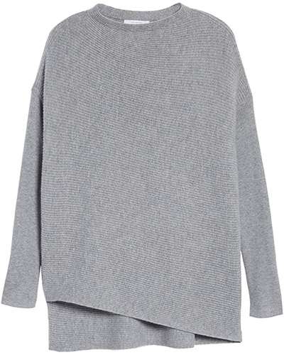 Grey Cashmere sweater | 40plusstyle.com