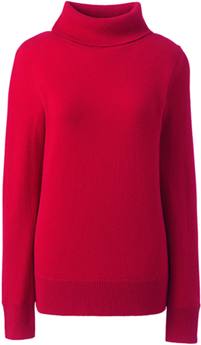 red cashmere sweater | 40plusstyle.com