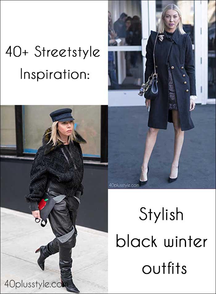 40+ streetstyle Inspiration: Stylish black winter outfits | 40plusstyle.com