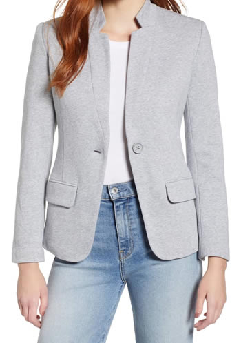 Gray jacket for women | 40plusstyle.com