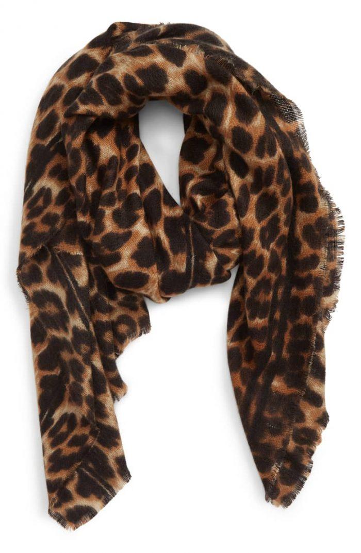 Animal print scarf | 40plusstyle.com