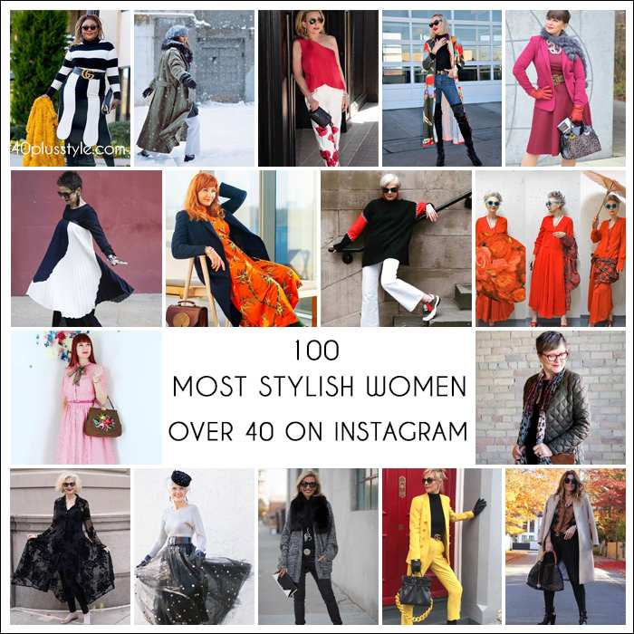 100 most stylish women over 40 on Instagram