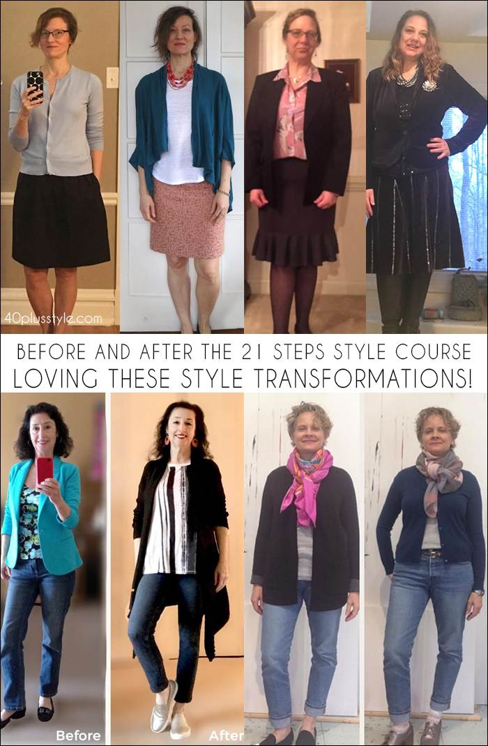 Style transformations - Before and After the 21 Steps to a More Stylish You Course | 40plusstyle.com | fashion over 40