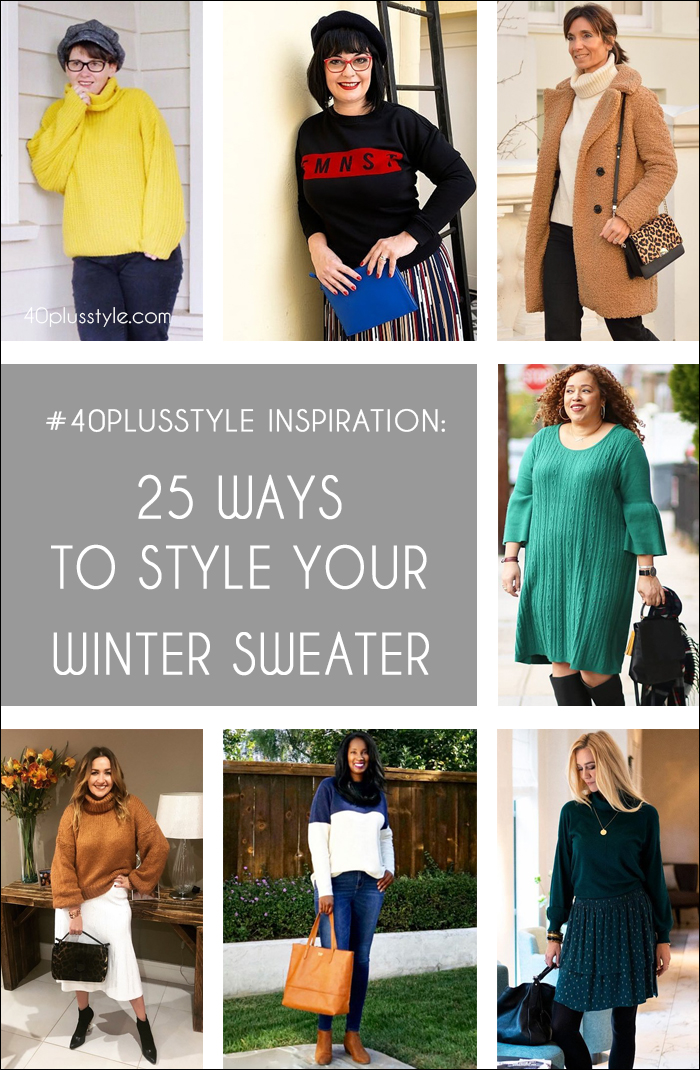 25 ways to style your winter sweater | 40plusstyle.com