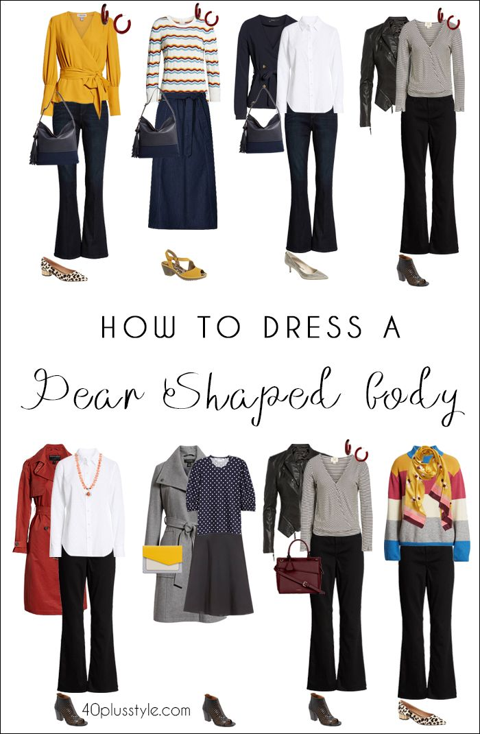 e704be3abde How to dress the pear shaped body type when you re over 40