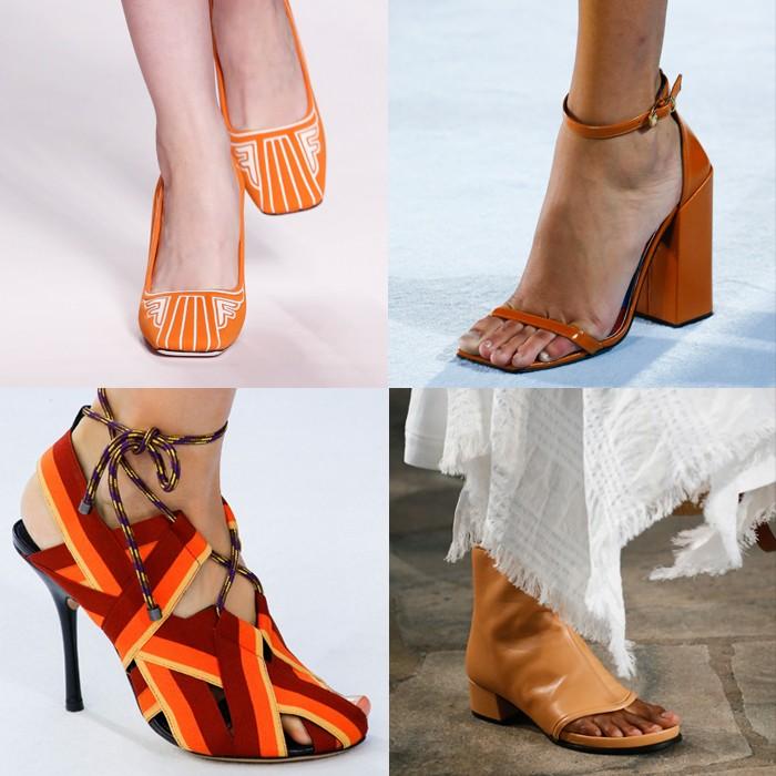 Stylish orange shoes | 40plusstyle.com