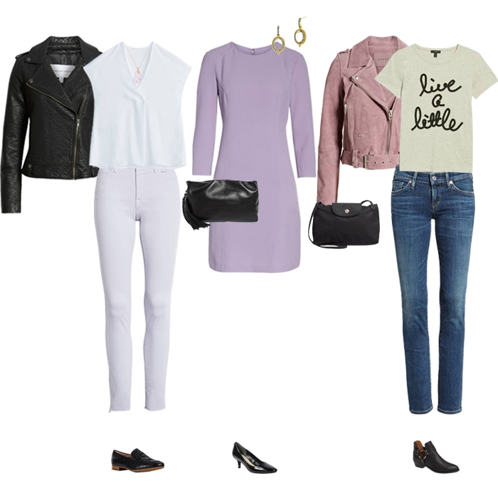 Pale purple and black | fashion over 40 | style | fashion | 40plusstyle.com