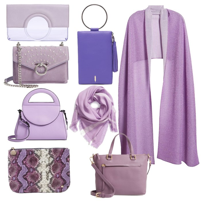 Puple Accessories Bags and Scarfs | 40plusstyle
