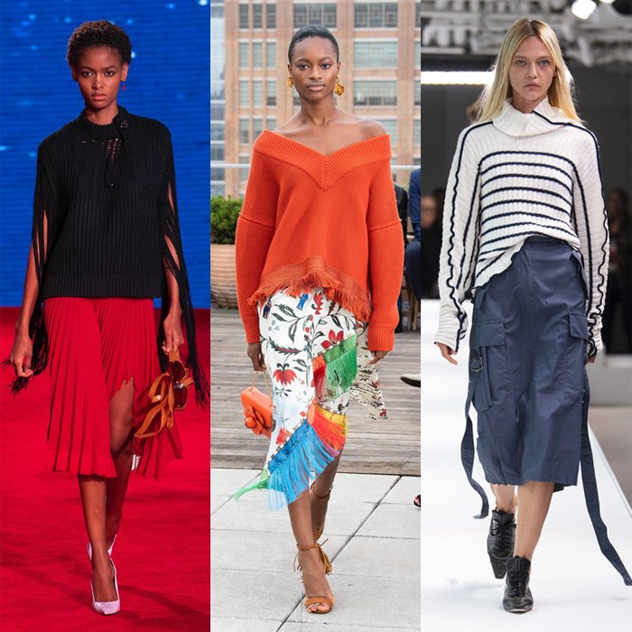 Trends for spring and summer 2019: Wearing sweaters with skirts | 40plusstyle.com